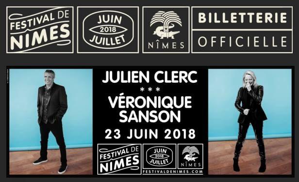 Julien Clerc & Véronique Sanson Festival de Nîmes